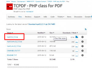 TCPDFダウンロードページ